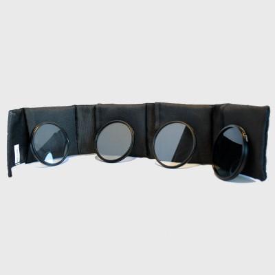 Bilora Filteretui met 1x elk polarisatie-, uv-, ster- en grijsfilter 62 mm