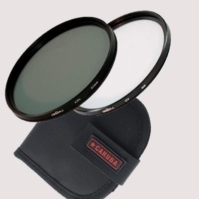 Caruba Filter organiser Small met Green.L UV en Polarisatiefilter 37 mm
